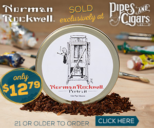 Pipes & Cigars Norman Rockwell Tobacco Storage Jar Ad