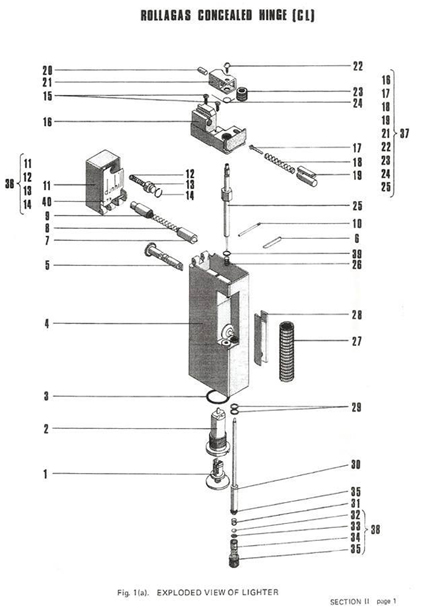 Dunhill Rollagas Schematic