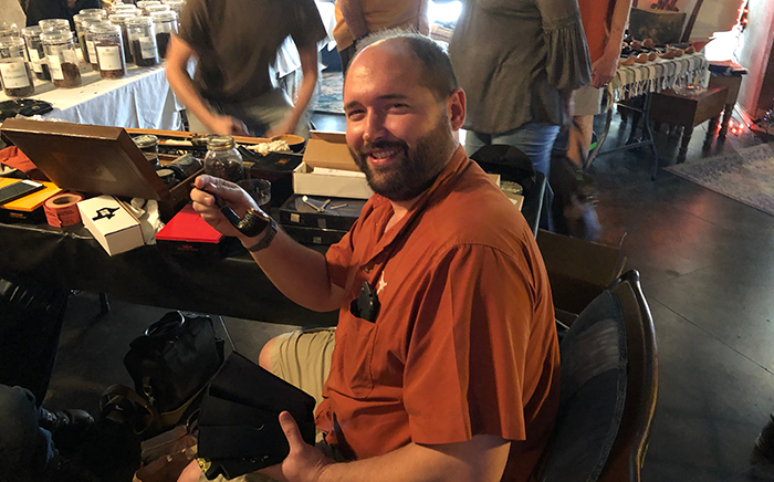 Richard Abbot - Austin Pipe Club Board Member and 2nd Place Slow Smoke Winner - Savinelli Tortuga