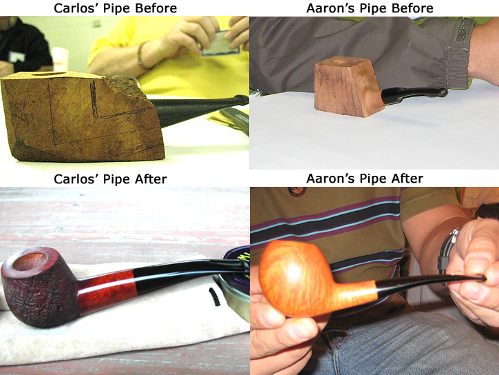 Before & After Shots of Pipes