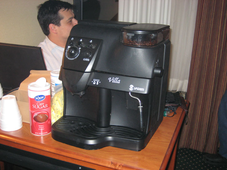 The Espresso Machine So We Can Stay Up All Night and Smoke