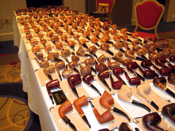This is just one vendor of several dozen at a recent pipe show