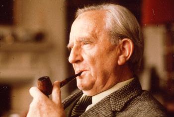 Tolkien Smoking a Pipe