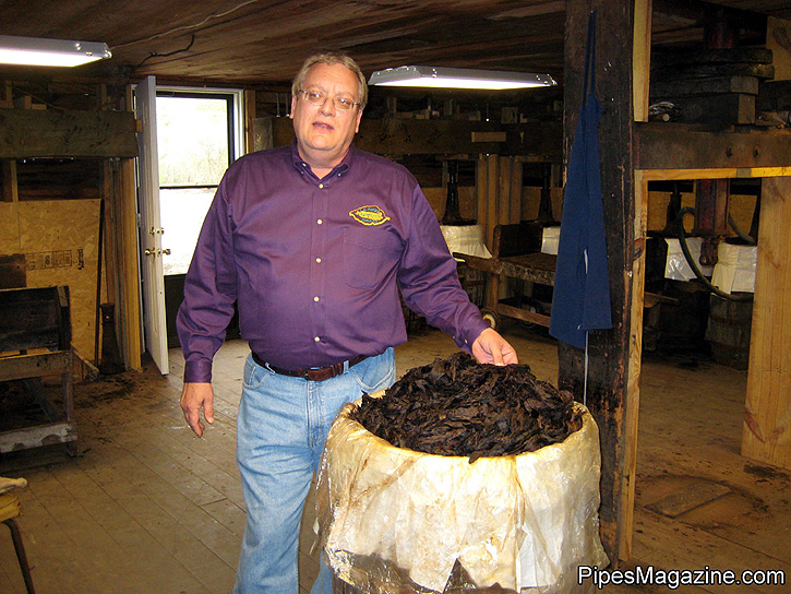 Mark Ryan After Unsealing a 10-Year Old Aged Barrel of Perique