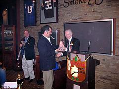 Matt Guss awards Gary Schrier the Club's first ever Lifetime Achievement Award