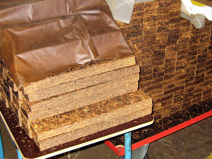 Pressed Tobacco Before Being Cut into Flakes in the Mac Baren Factory in Denmark