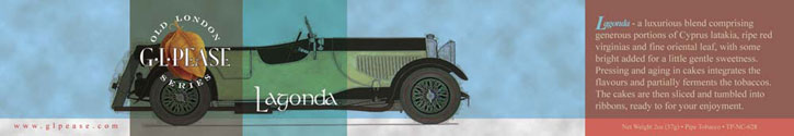 G. L. Pease Lagonda Tin Art