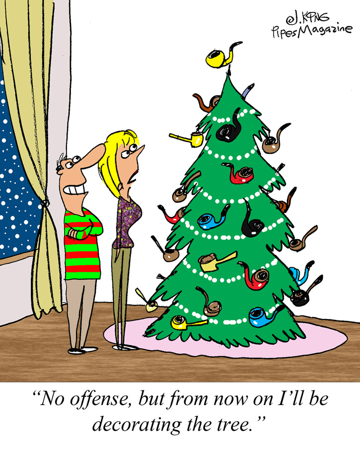 pipe christmas tree decorations cartoon general discussion pipe smokers forums - When To Put Up Christmas Decorations