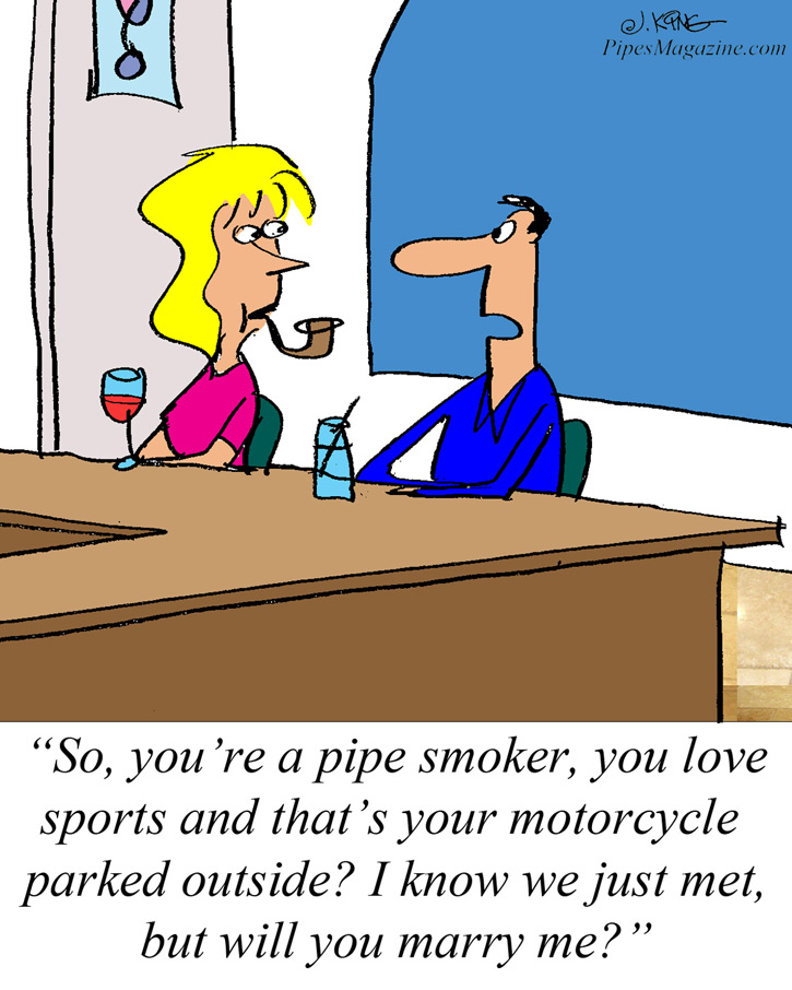 The Perfect Woman Apparently Cartoon General Pipe Smoking