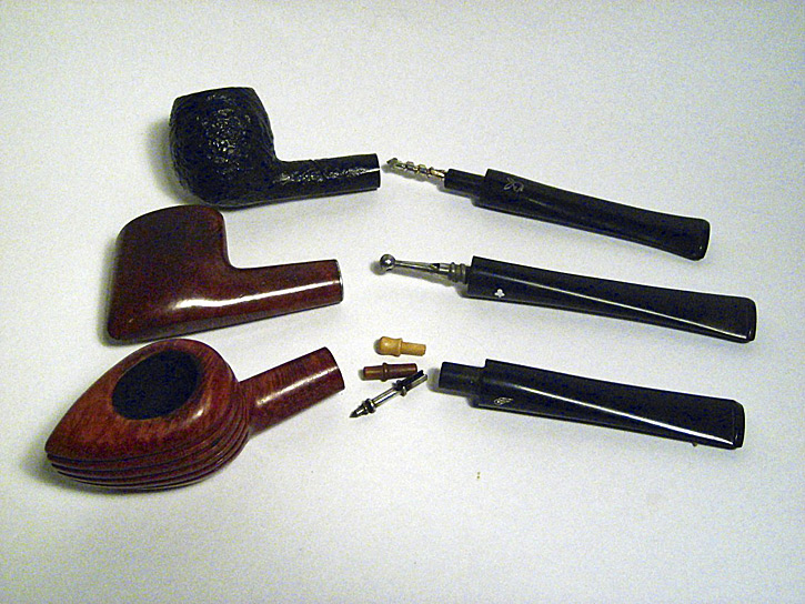 Kaywoodie SuperGrain Genod Playboy and CB Weber pipes all with stingers intact; the Weber actually provides three interchangeable options. & A lot about smoking pipe filtration the different types the ...