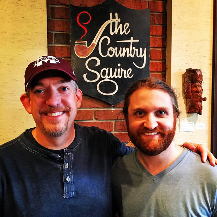 Russ Hicks (L) & Jon David Cole (R) of Country Squire Tobacconist