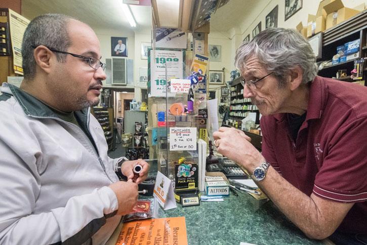 Paul Spaniola (R) Pauls Pipe Shop, Flint MI