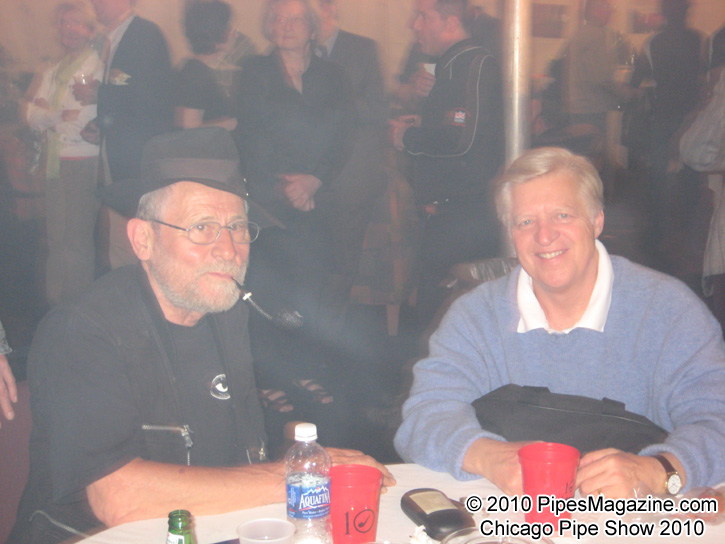 Rick Newcombe on the right, author of the book Pipe Dreams