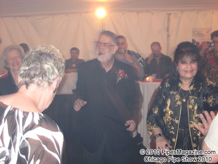 Frank Burla has Boogie Fever at the SmokingPipes.com 10th Anniversary Party