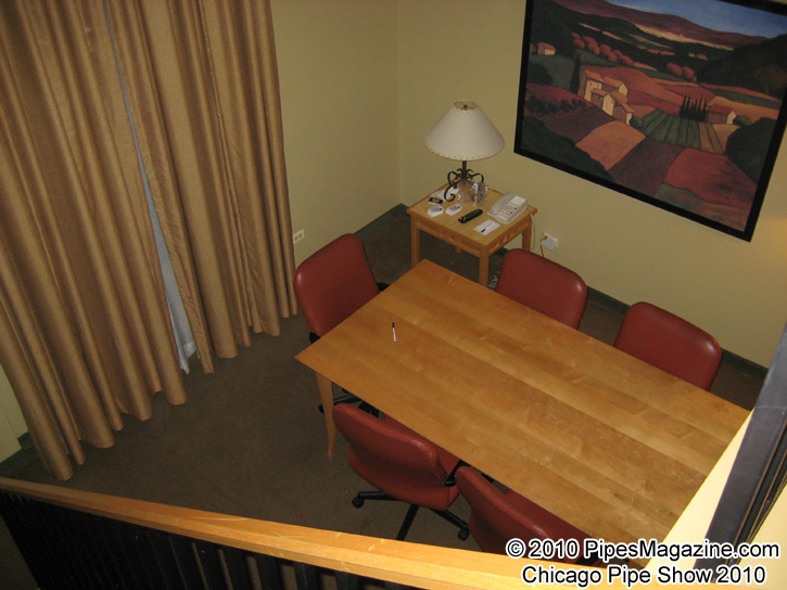 The Conference Room Table in Our Suite