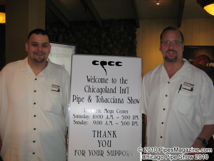 Bob Tate & Kevin Godbee in Our PipesMagazine.com Shirts