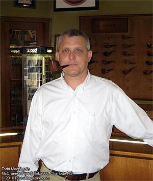 Todd McCranie, McCranie's Pipe & Tobacco Shop, Charlotte