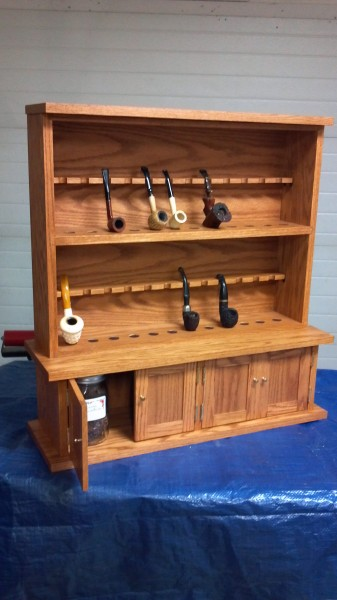 Gentil New Custom Oak Pipe Cabinet