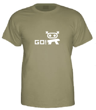 Curly Says Go! t-shirt