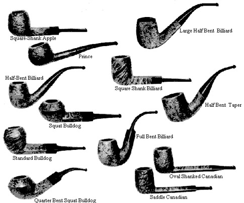 old pipe shape chart general pipe smoking discussion
