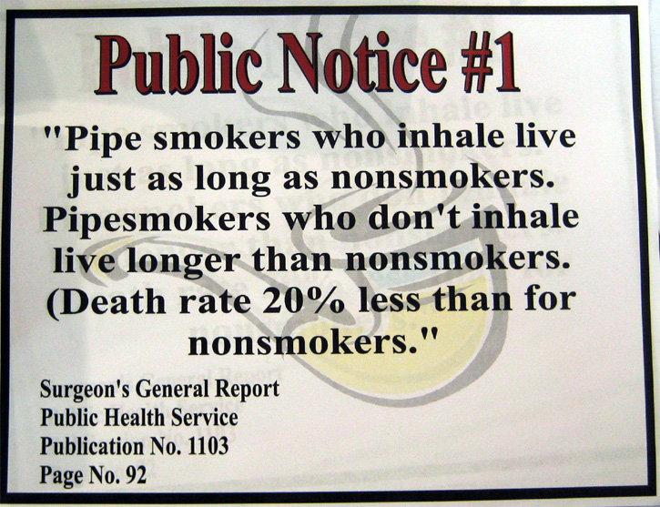 Public Notice #1 & 2 :: General Pipe Smoking Discussion :: Pipe