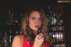Alli is Smoking a Vintage Gefapip #35 Pipe