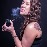 Camae Smoking the 1897 Pipe in the 4th Generation Line-Up