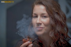 Camae Smokes a Savinelli Spring 626 Smooth Billiard