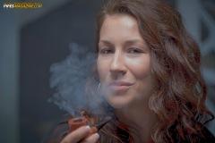 Camae Smokes a Savinelli Spring 626 Smooth Billiard