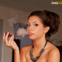 Cynthia Smokes a Hermes Quarter-Bent Prince