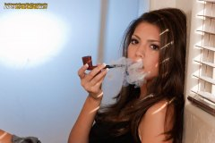 Cynthia Smokes a Dunhill Root Briar 130 F/T