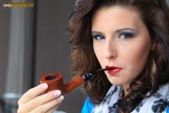 Gabrielle Smoking Haddo's Delight in Willmer AAA