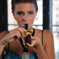 Gabrielle w/Poul Winslow Pipe Smoking Hamborger Veermaster