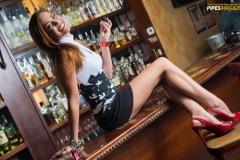 Sherye is Smokin' and Smoking on the Bar