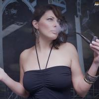 Zoie Smoking a Brigham Voyageur #65