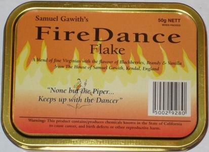 Samuel Gawith Fire Dance Flake Pipe Tobacco Tin
