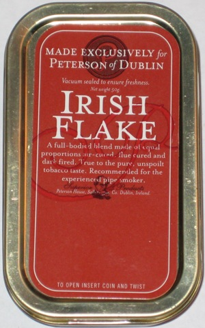 Peterson Irish Flake Pipe TobaccoTin