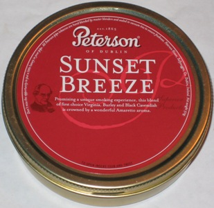 Peterson Sunset Breeze Pipe Tobacco Tin