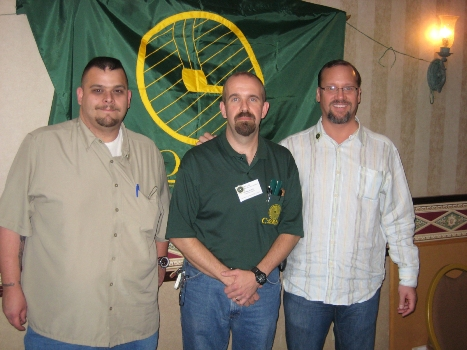 (left to right) Bob Tate, Craig Norris (President of CORPS), Kevin Godbee