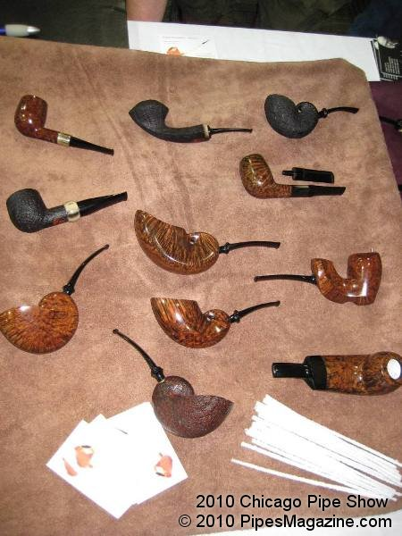 Some Pipes for Sale at one of the Tables at the Pre-Show