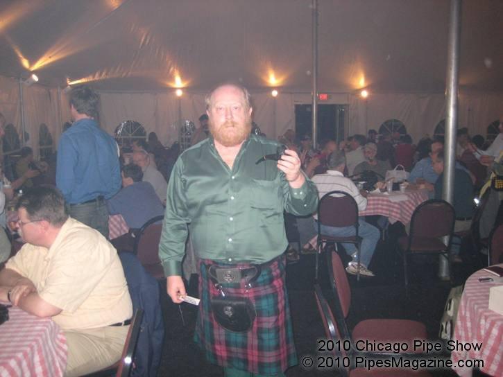 Hadley Scott Dressed in Full Scottish Garb