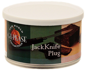 G.L. Pease JackKnife Plug Pipe Tobacco Tin