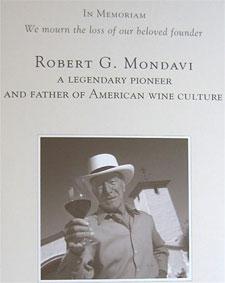 Robert Mondavi Memoram