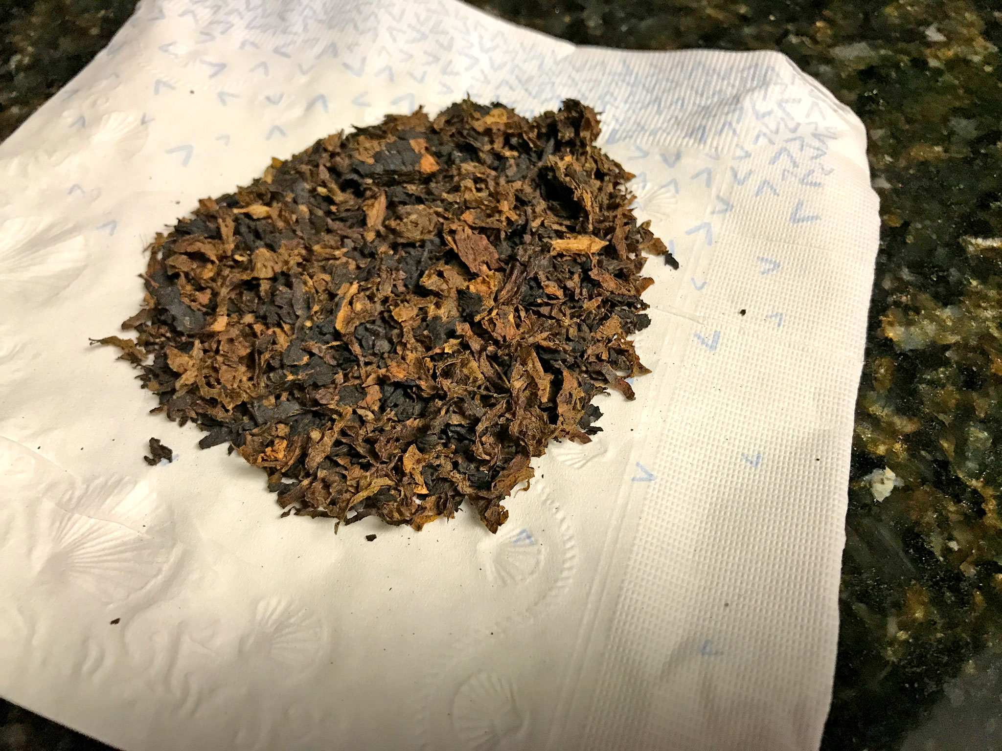 Rubbed Out Tobacco Drying