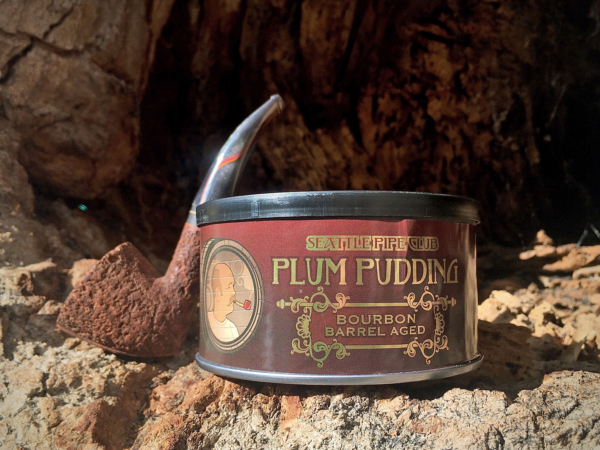 Seattle Pipe Club Plum Pudding Bourbon Barrel Aged Pipe Tobacco