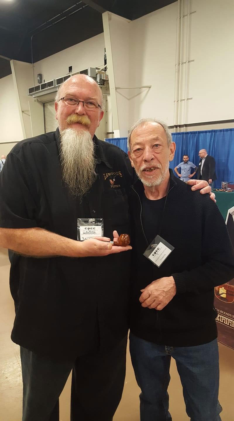 "Robert ""Lawdog"" Lawing with artisan pipe maker, ""Former"""