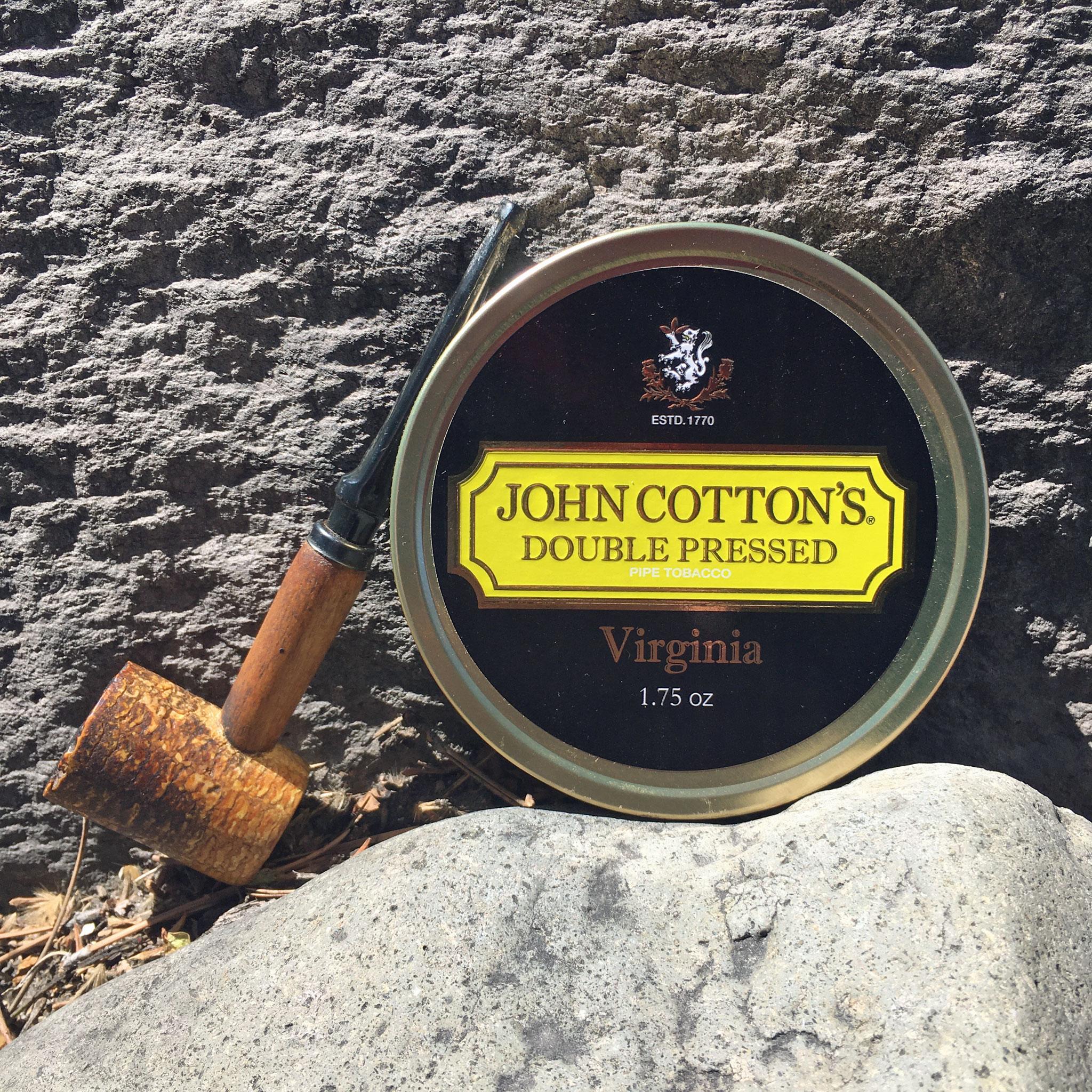 John Cotton's Double Pressed Virginia Tobacco & Corn Cob Pipe