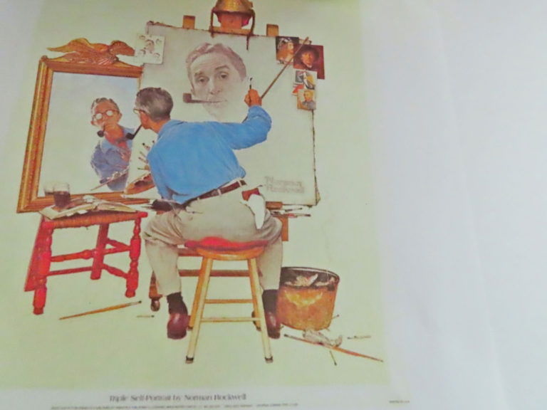 Triple Self Portrait by Norman Rockwell