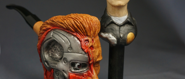 Carve a Pipe of  Arnold Schwarzenegger and He Will Smoke It And Everyone Will Talk About It