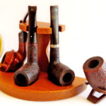 English pipes from left to right Northern Briars Countryman, Dunhill Shell Briar Group 4, Dunhill Shell Briar Group 5, Ashton Pebble Grain LX